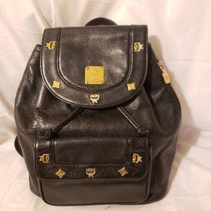 Mcm authentic vintage black leather bag
